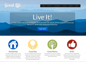 Screenshot of website for Good Life