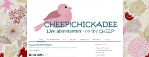 Screenshot of Cheep Chickadee website