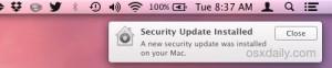Notification in OS X Yosemite